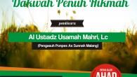 Alhamdulillah 🔈Audio Rangkaian Muhadhoroh Ustadz Usamah Mahri, Lc hafidzohulloh di Purbalingga 📅 Ahad 15 Sya'ban 1437 H / 22 Mei 2016 ✅ Taushiyah di Masjid Aisyah binti Abi Bakr Asshidiq, […]