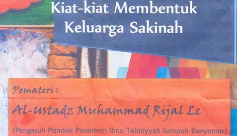 Kajian Islam Kiat Membentuk Keluarga Sakinah – Ustadz Muhammad Rijal, Lc